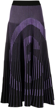 MM6 MAISON MARGIELA Number Knitted Pleated Skirt