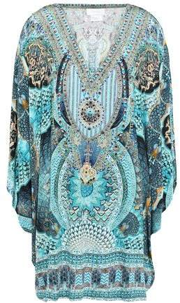 Camilla Turn On The Charm Crystal-embellished Jersey Mini Dress