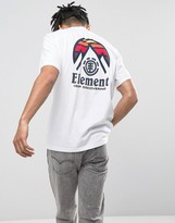Element Tri Tip Back Logo T-shirt In White