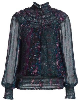 Ramy Brook Janie Printed Silk Blouse