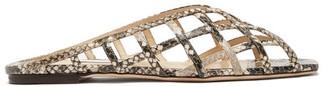 Jimmy Choo Sai Caged Python-effect Leather Slides - Womens - Python