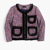 J.Crew Tweed lady jacket with sparkly trim