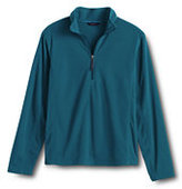 Lands' End Men's ThermaCheck 100 Half-zip Pullover-Coral Blush Windowpane