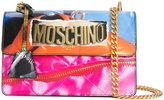 Moschino magazine motif shoulder bag