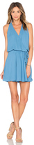Krisa Surplice Flounce Dress