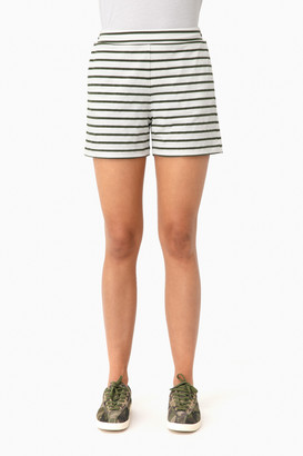 Olive Striped Jojo Shorts