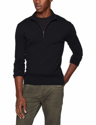 French Connection Men's Long Sleeve Stretch Cotton Sweater