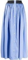 MSGM pinstriped A-line skirt