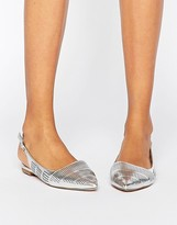 London Rebel Slingback Point Flat Shoes