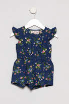 Powell-Craft Powell Craft Blue Floral Romper