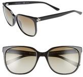 Tory Burch Women's 57Mm Gradient Sunglasses - Black