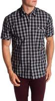 James Campbell Savoy Plaid Woven Short Sleeve Shirt