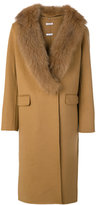 P.A.R.O.S.H. fur-trim coat - women - Fox Fur/Polyester/Wool - S