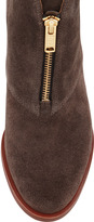 Marc by Marc Jacobs Suede Zip-Front Ankle Boot, Gray