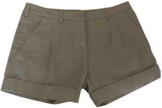 Balenciaga Beige Cotton Shorts for Women