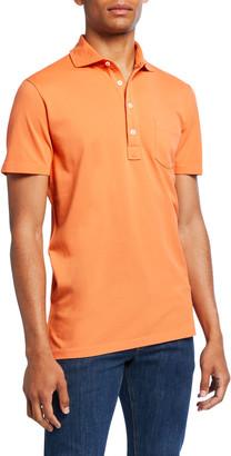 Ralph Lauren Purple Label Men's Pocket Polo Shirt, Orange