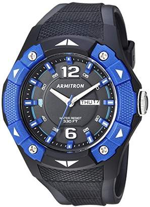 Armitron Sport Men's 20/5292BBK Day/Date Function Blue and Black Resin Strap Watch