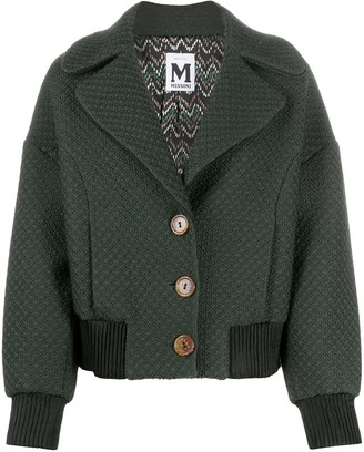 Missoni Pre-Owned 2000s Dropped Shoulders Buttoned Jacket
