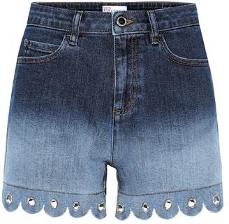 RED Valentino High-rise denim shorts