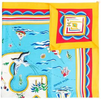 Tory Burch Island Print Square scarf