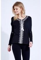 Select Fashion Fashion Embroidered Tassel Gypsy Top Boleros - size 8