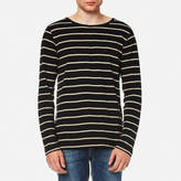 Nudie Jeans Men's Orvar Striped Long Sleeve TShirt - Stripe