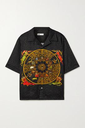 GmbH Luka Printed Satin Shirt - Black
