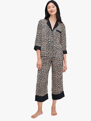 Kate Spade Leopard Long PJ Set