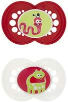 Mam BPA FREE Monsters 2 Pacifiers 6+months Neutral Color