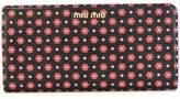 Miu Miu Daisy print wallet
