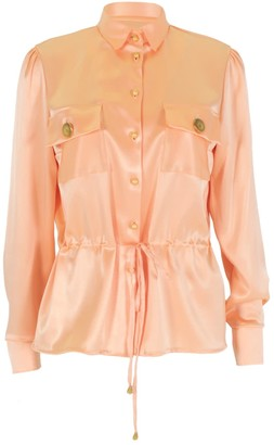 Relax Baby Be Cool Long Sleeved Silk Tie Up Blouse Pink