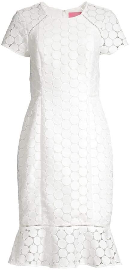 Lilly Pulitzer Aliza Midi Flounce Sheath Dress