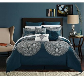 Chic Home Adana 9-Piece Jacquard Comforter Set