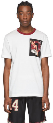 Dolce & Gabbana White Pin-Up T-Shirt