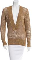 Stella McCartney Metallic Open Knit Sweater