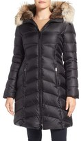 Dawn Levy Women's Daphne Long Quilted Down Coat With Genuine Fur Trim