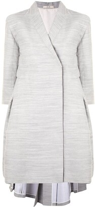 Céline Pre-Owned Pre-Owned Box Pleat Flared Coat