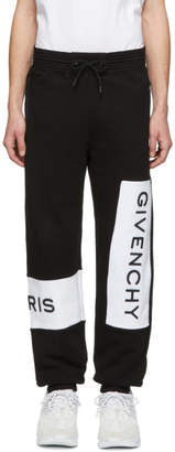Givenchy Black and White Logo Jogging Lounge Pants