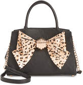 Betsey Johnson Medium Satchel with Removable Bow