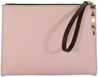 Marni Logo Charm Zip Clutch Bag
