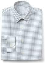 Gap Stretch Poplin windowpane standard fit shirt