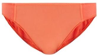 Araks Yahvi Silk-blend Satin And Cotton Briefs - Orange