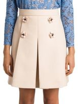 Miu Miu Floral Wool Skirt