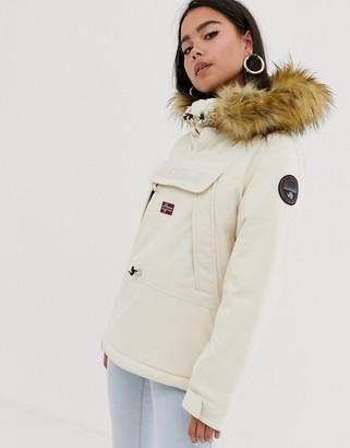 Napapijri Skidoo 2 overhead jacket in cream