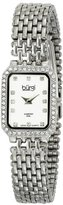 Burgi Women's BUR098SS Crystal Accented Silver Swiss Quartz Watch with Silver Dial and Silver Bracelet