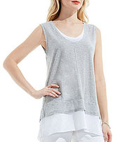 Vince Camuto Two By Mixed Media Tank