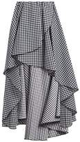 Caroline Constas Adelle gathered cotton-gingham skirt