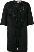 No.21 lace detail shift dress - women - Cotton - 40