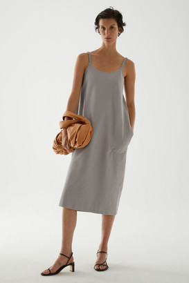 Cos Organic Cotton Rounded Hem Slip Dress