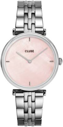 Cluse Triomphe CW0101208013 5-Link Salmon Pink Pearl/Silver